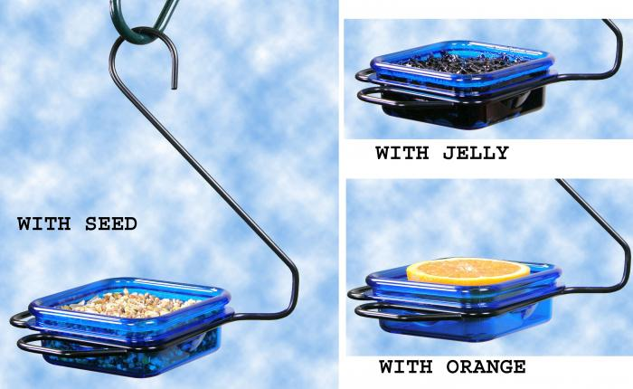Hiatt Manufacturing Hanging Jelly & Mealworm Bird Feeder