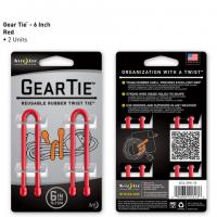 "Nite-ize Gear Tie 6"" 2 Pack - Red"