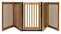 Walk Through 5 Panel Free Standing Pet Gate - Artisan Bronze