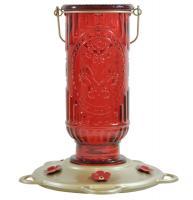 Classic Brands Red Vintage Hummingbird Bird Feeder