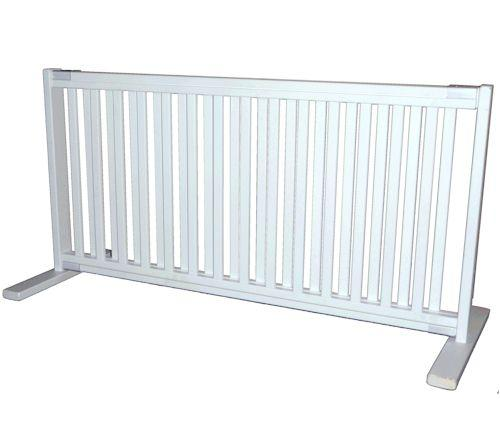 "20"" High Kensington All Wood Large Free Standing Pet Gate - White"