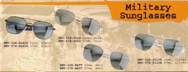 Humvee Tactical Sunglasses Matt Frame 52mm