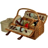 Picnic at Ascot Sussex Picnic Basket for 2, Gazebo