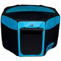 "Pet Gear Travel Lite Soft-Sided Pet Pen with Removable Top Ocean Blue 29"" x 29"" x 17"""