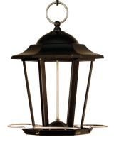 Woodlink Audubon Series Black Carriage Lantern Bird Feeder