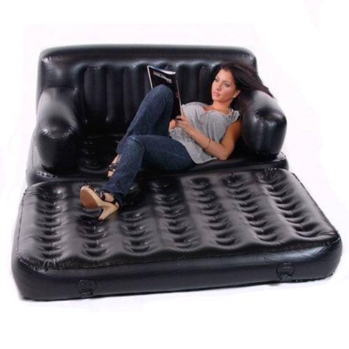 Smart Air Beds 5 X 1 Ez Full Size Inflatable Sofa Bed Black Bed Sofa Booster Bed Recliner