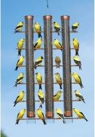 Songbird Essentials Copper Finches Favorite 3-Tube Design Finch Bird Feeder