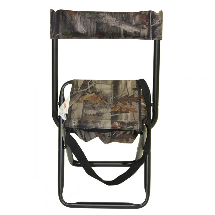 Camo Folding Stool W Back Rest