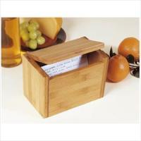 Lipper Bamboo Recipe Box