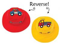 Luvali Convertibles Police Car/ Fire Truck Reversible Kids Hat Small