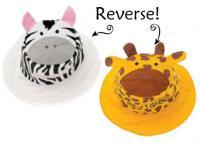 Luvali Convertibles Zebra/Giraffe Reversible Kids' Hat Small