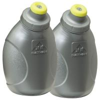 Nathan Push-pull Cap Flasks and Caps - 10 oz, Silver