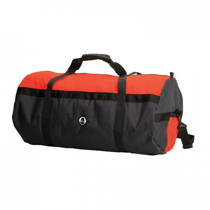 """Stansport Mesh Top Roll Bag - 14"""" x 30"""" Red/Black"""