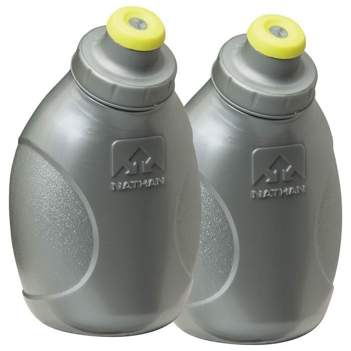 Nathan Push-pull Cap Flasks and Caps - 10 oz, Silver
