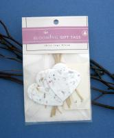 Cast Paper Art Gift Tags- Set of 5 Hearts (1 pk - 5 hearts)