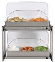 BroilKing Professional Multi-Level Buffet Server with Stainless Base and Rolltop Lid