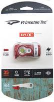 Princeton Tec Byte Headlamp, Red Body, 1 White, 1 Red LED