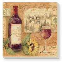 Counter Art Wine & Sunflowers Coasters Set of 4