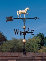 "30"" Full-Bodied Horse Weathervane - Gold-Bronze"