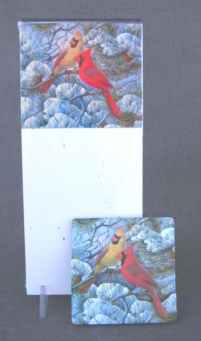 Songbird Essentials Memo Pad Fire in the Snow
