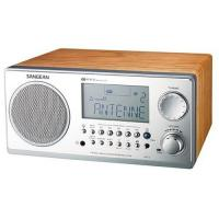 Sangean WR2WAL Digital AM/FM Stereo System with LCD and Alarm Clock (Walnut)