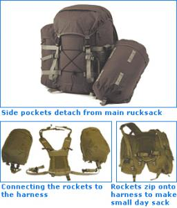 SnugPak Rocket Pack 60 Litre Ruck Sack (Olive Green)
