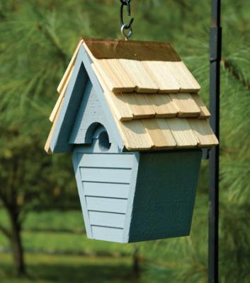 Heartwood Wren-In-The-Wind Birdhouse, Blue Pickle