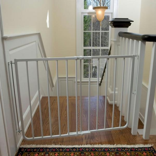 Stairway Special Outdoor Pet Gate - White