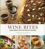 Chronicle Books Wine Bites Cookbook