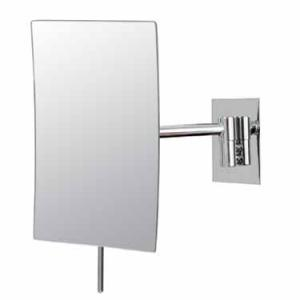Kimball & Young Minimalist Rectangular Wall Mirror, Chrome