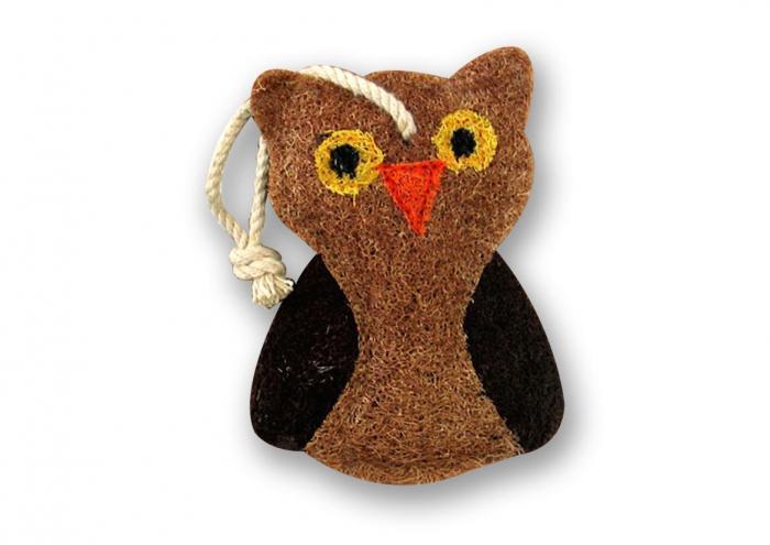 Loofah Art Owl