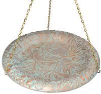 Whitehall Oakleaf Hanging Birdbath - Copper Verdi