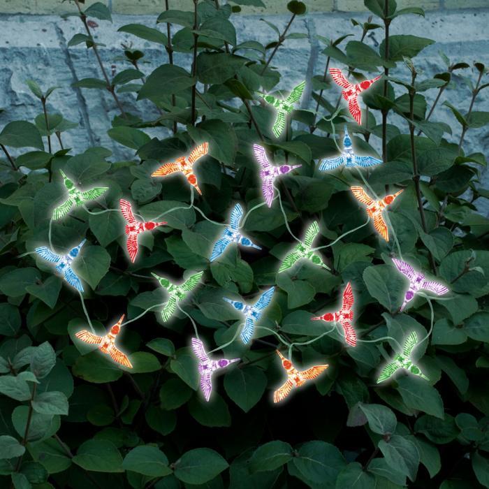Smart Solar Solar Color Changing Light String Hummingbird 20 pcs Set