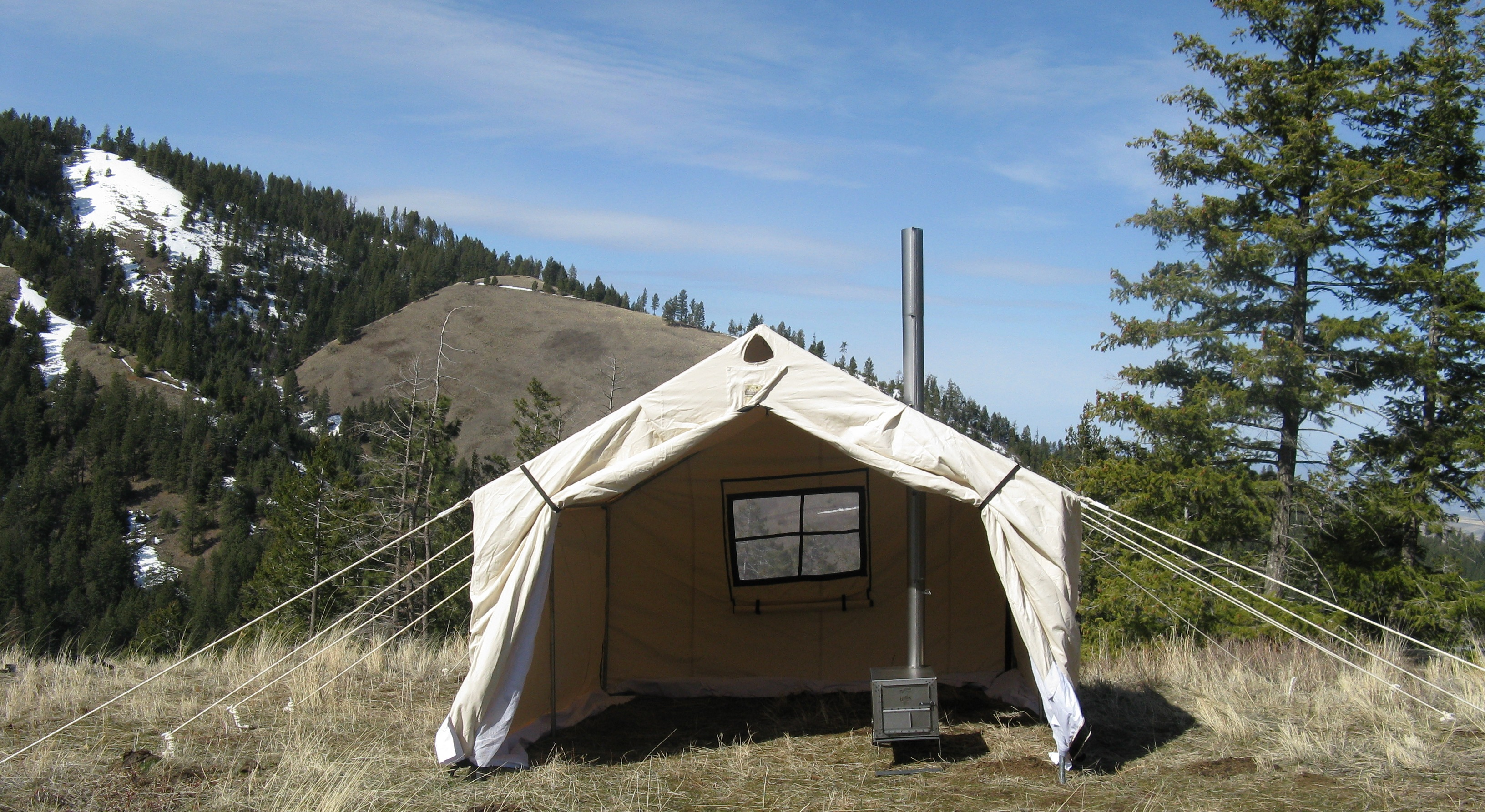 12x14x5ft Magnum Wall Tent and Angle Kits