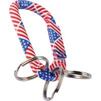 Munkees Us Flag Carabiner with 3 Keyrings