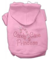 Candy Cane Princess Dog Hoodie Pink/Large