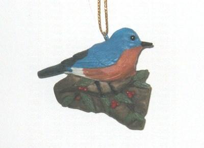 Songbird Essentials Bluebird with Holly Ornament
