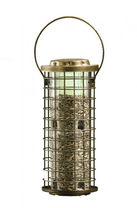 Perky Pet Squirrel Stumper Metal Cage Bird Feeder