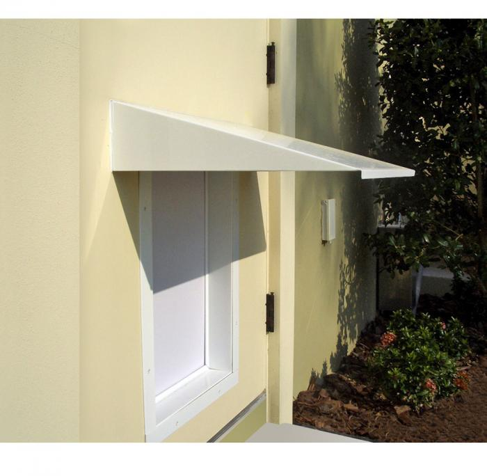 PlexiDor Medium Pet Door Awning, White