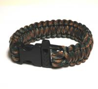JB Outman Survival Bracelet With Whistle - Dark Green Camo