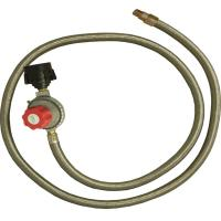 King Kooker #30502-HP Regulator & SS Hose-Female Flare End