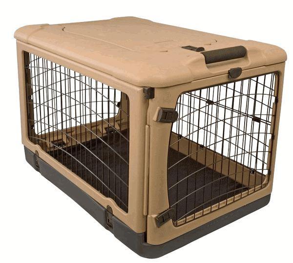 """Pet Gear Tan/Black 36"""" The Other Door Steel Crate"""