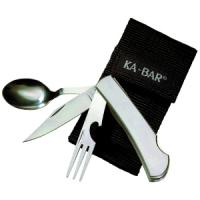 Ka-bar Knives Hobo Fork/Knife/Spoon Diner Set, With Ballistic Sheath