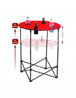Picnic Plus Scrimmage Tailgate Table - Red
