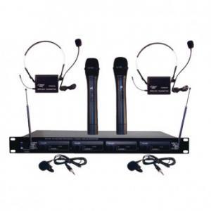 Pyle-Pro PDWM4300 4 Microphone VHF Wireless Microphone System