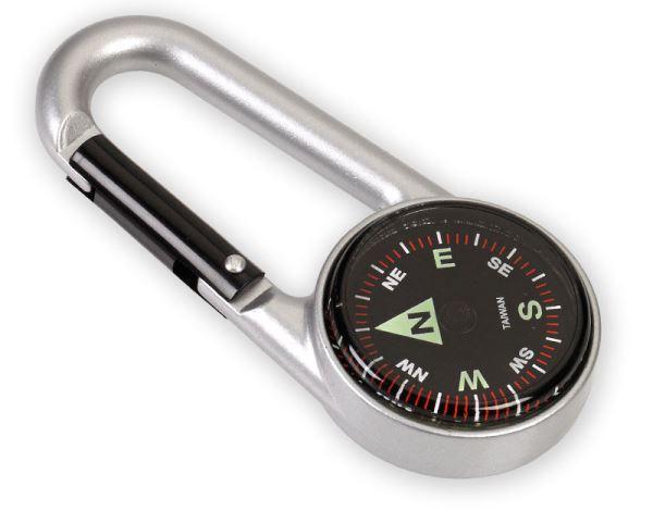 NDuR NDur Carabiner Compass Silver