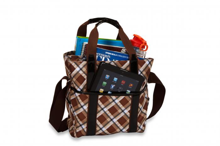 Picnic Plus Main Liner Hybrid Tote, Saddle Plaid