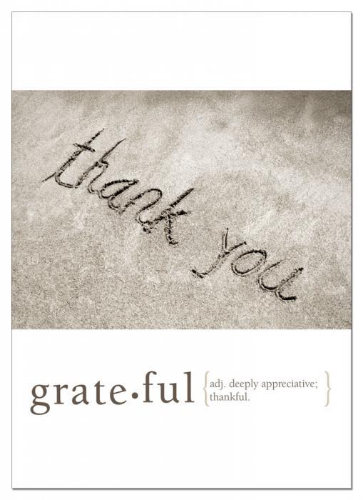 Tree Free Greetings Grateful Thank You