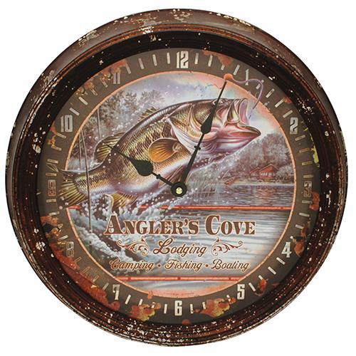 """Bass Metal Clock 15"""""""