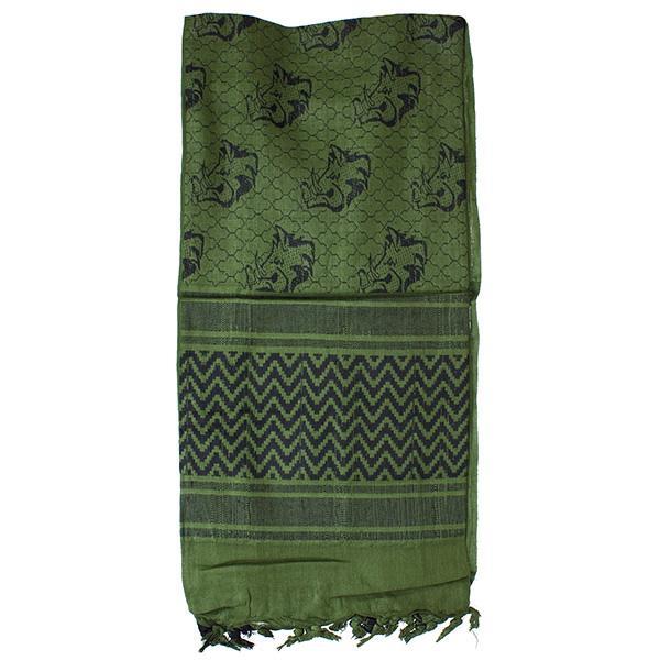 Shemagh Head Wrap, Wild Hog, Olive Drab/Black
